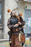 medieval musician of french bagpipe by A1Z2E3R