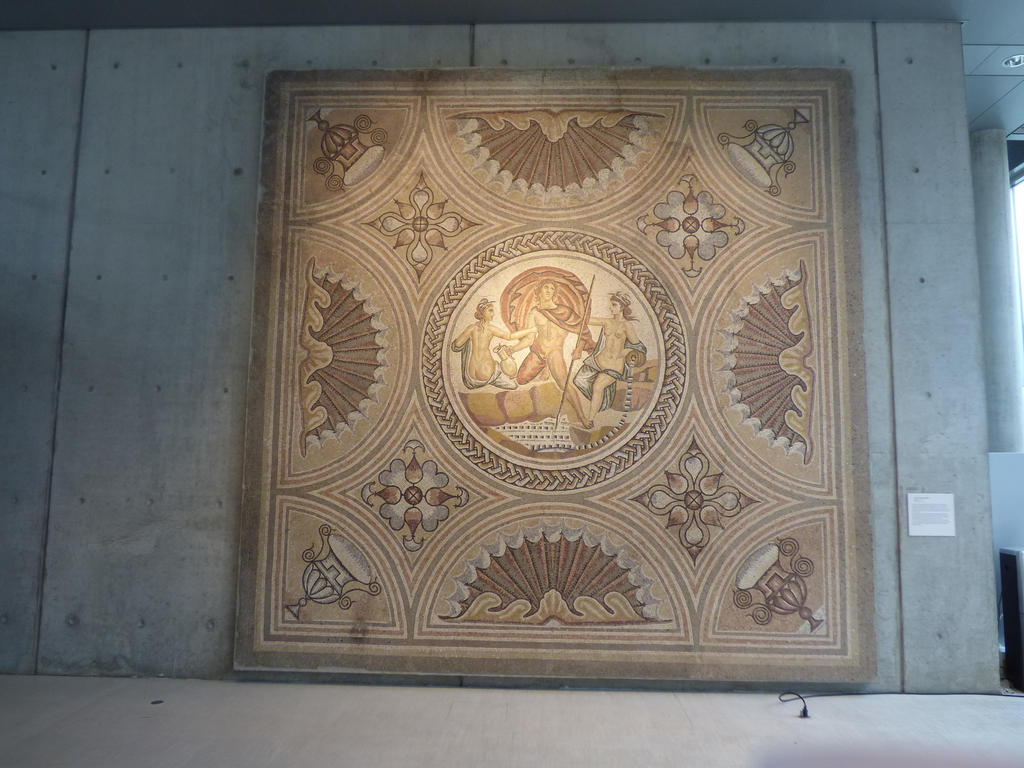 Roman mosaique decoration of Ist century by A1Z2E3R