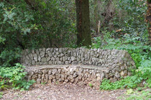 Old bench in stones by A1Z2E3R