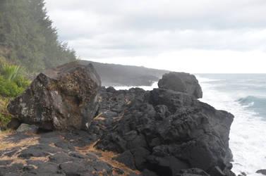 Lava rocks in lava cliffs 2