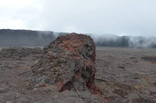 Lava rock around old lava flow