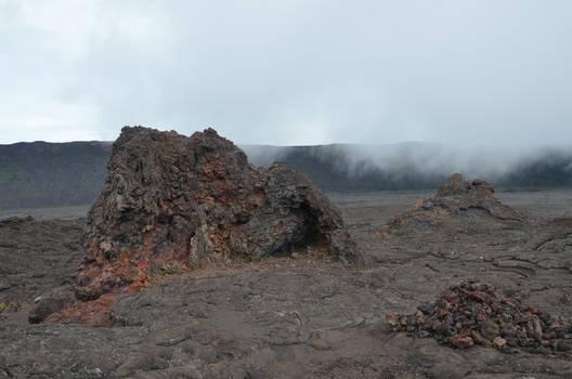 Lava rocks around old lava flow