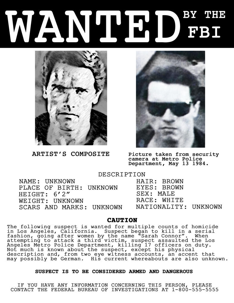 Real Fbi Wanted Posters Fbi Wanted Poster Template