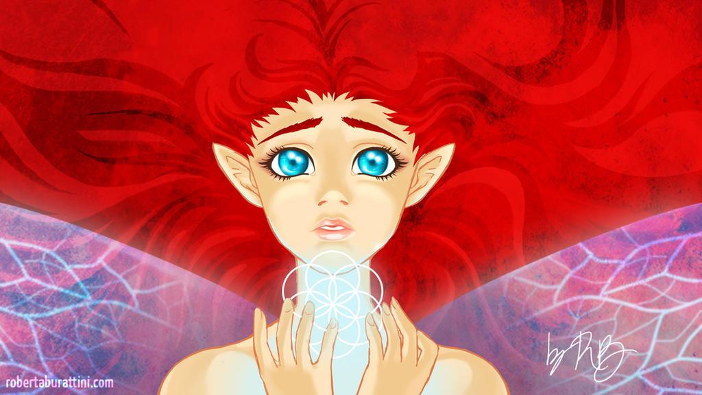 Fairy in progress - wallpaper by RobertaBurattini