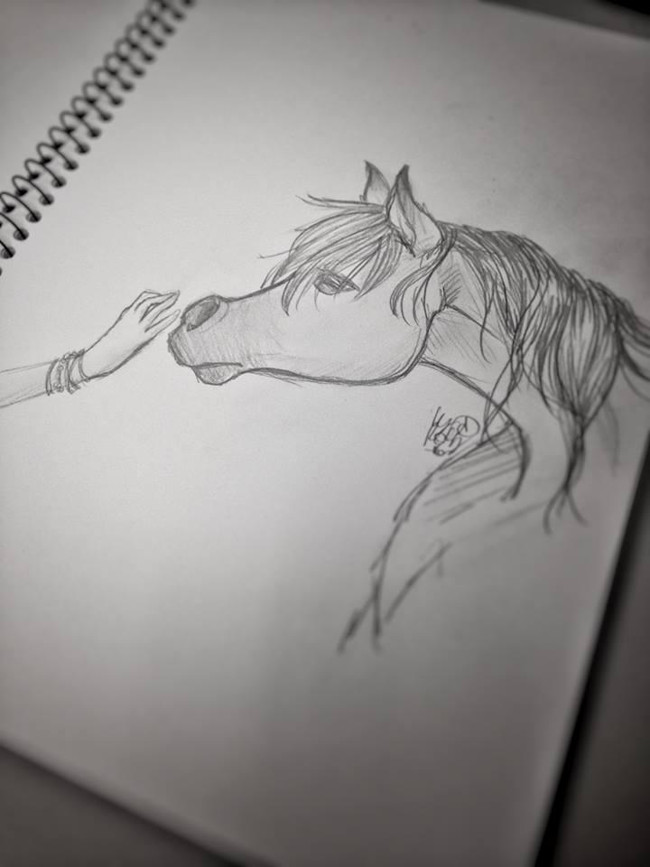 Horse touch by RobertaBurattini