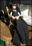 My dollfie Haruka with a chair