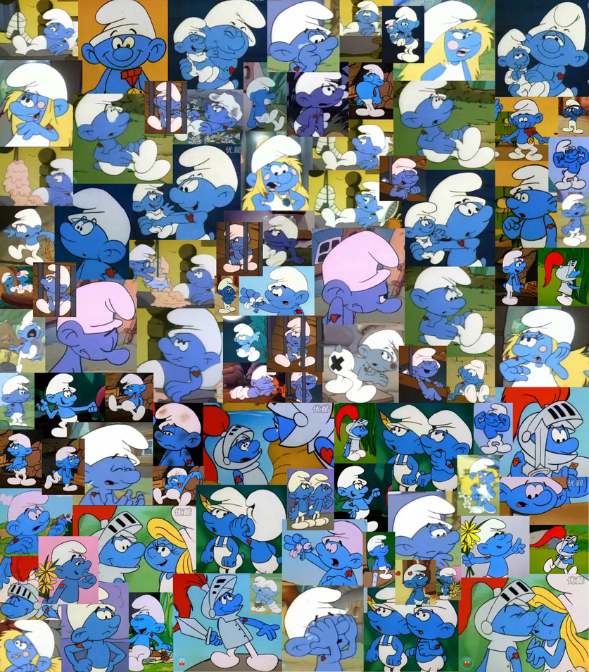 Hefty Smurf Collage by Kiss-the-Iconist on DeviantArt
