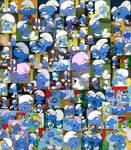 Hefty Smurf Collage