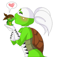Turtle Tiger x Chibi by Kiss-the-Iconist