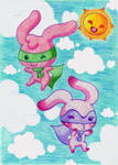 Cutest Bunnies in the Skies by Kiss-the-Iconist
