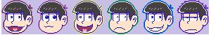 Osomatsu-san Icons