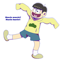 Jyushimatsu: Muscle Muscle!! Hustle hustle!! by Kiss-the-Iconist