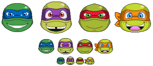 TMNT Twitch Emotes Commission by Kiss-the-Iconist