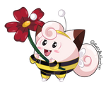 Clefairy Bumble Bee by Kiss-the-Iconist