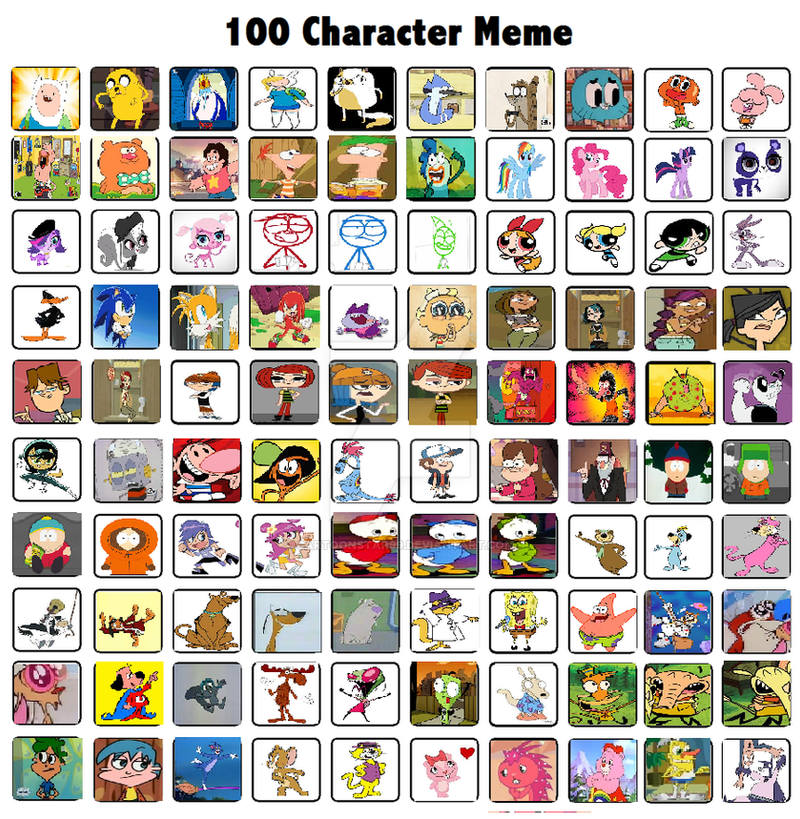 Cartoon Characters 2 100 Pics : My top characters by cartoonstar on deviantart