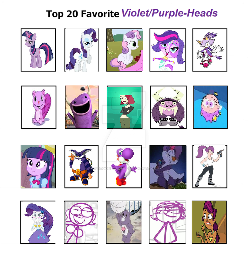 my top 10 purple haired characters by cartoonstar99 on ...