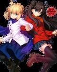 [Render] Saber and Rin Tohsaka