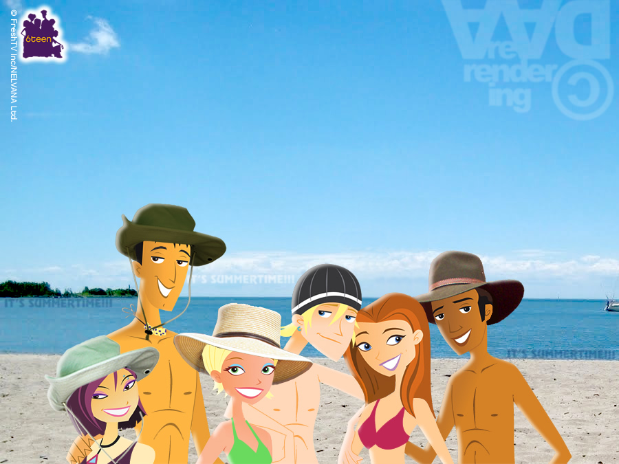 6TEEN Gang at the Beach---IT'S SUMMERTIME!!! by daanton
