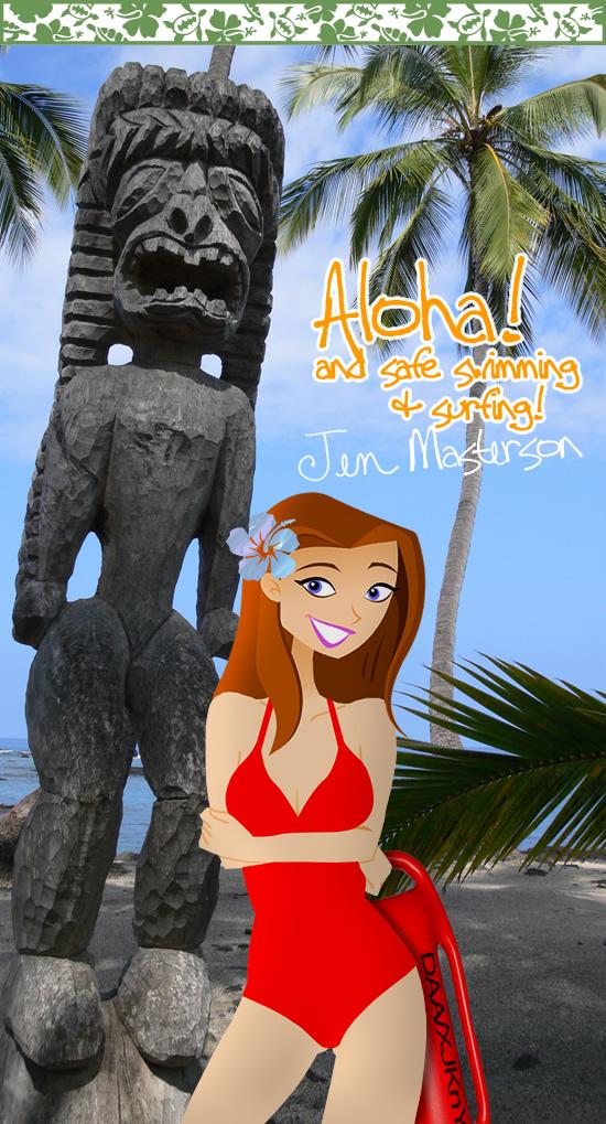 Tiki Beach Lifeguard Jen Masterson by daanton