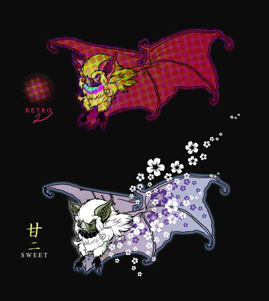 KabukiBats set 02 by ZombieHun