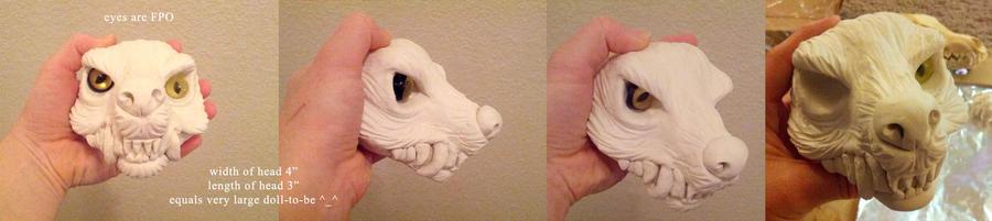 Werewolf doll sculpt WIP by ZombieHun