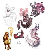 2009 Art Dump by ZombieHun