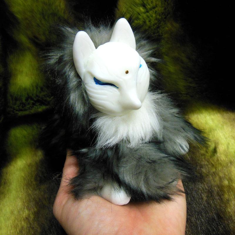 Smokey Grey Kitsune doll by ZombieHun