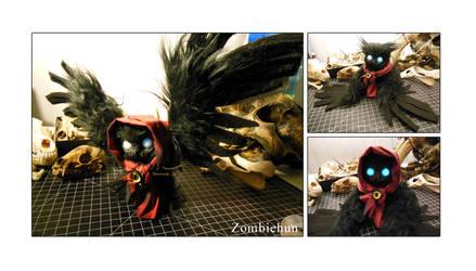 Poe the spoopy owl by ZombieHun