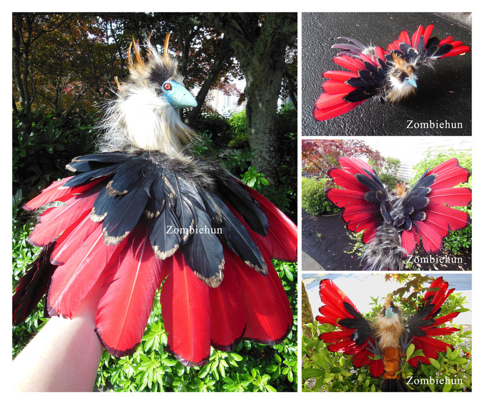 Hoatzin ooak doll for Zhon by ZombieHun