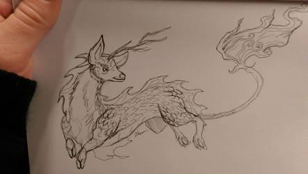 kirin sketch by ZombieHun