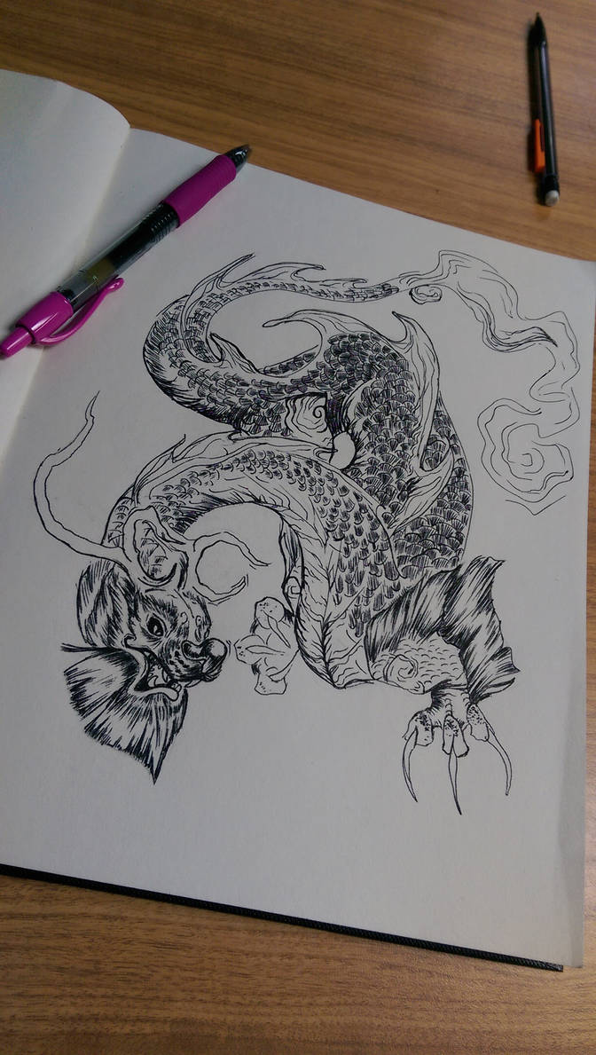 Dragon pen art 01