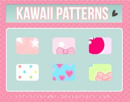 Kawaii Patterns for Photoshop by InfiniteKami