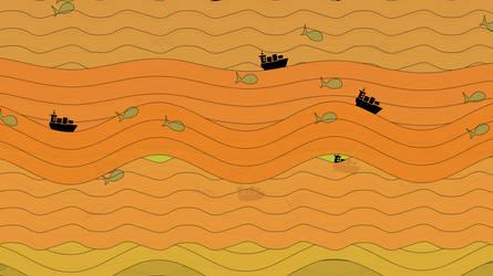 Ponyo: orange sea