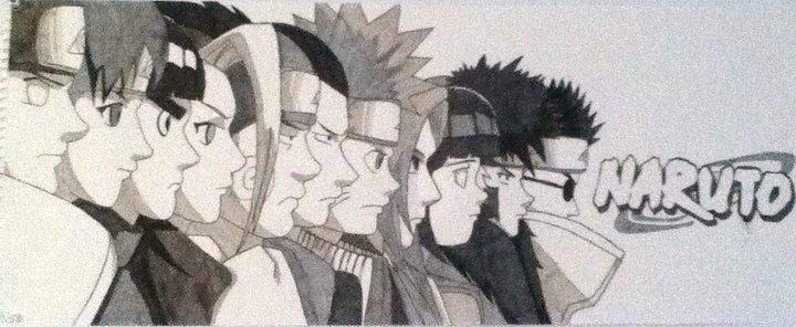 Naruto Group Drawing By Carterjackson On Deviantart