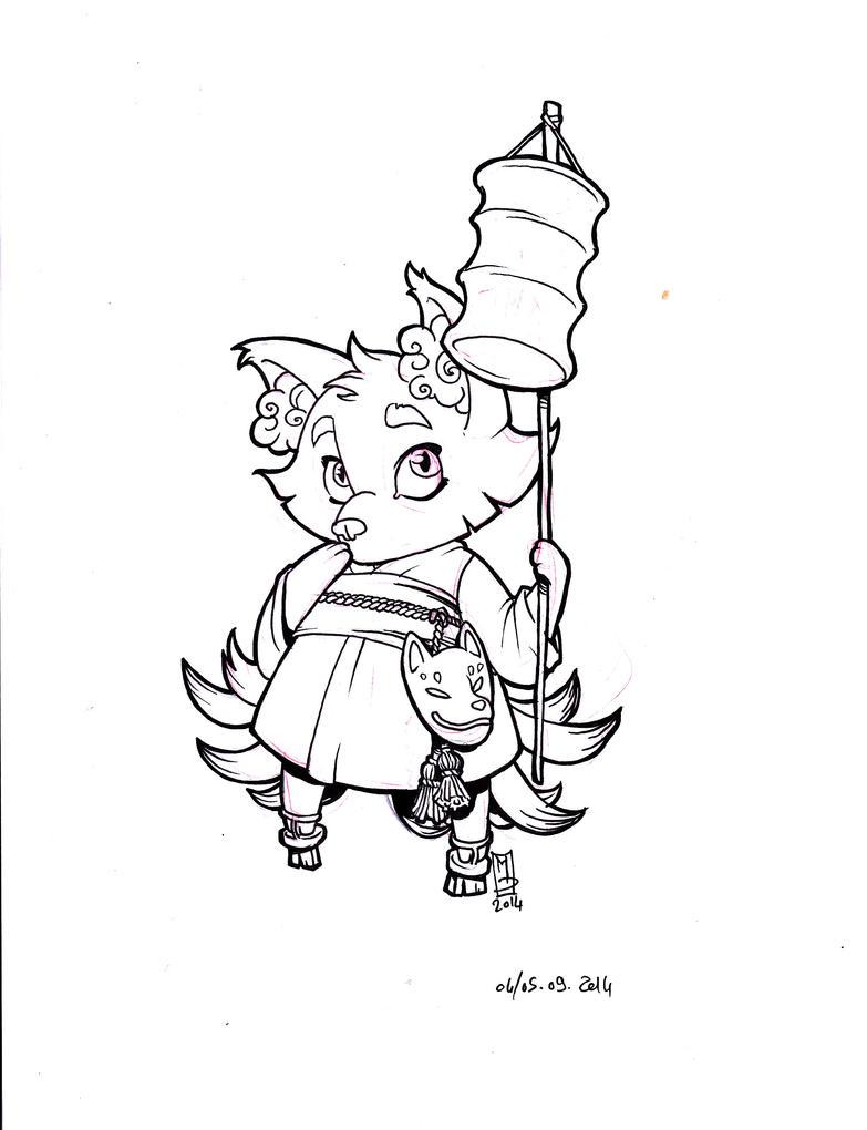Kitsune WIP by Mydriad