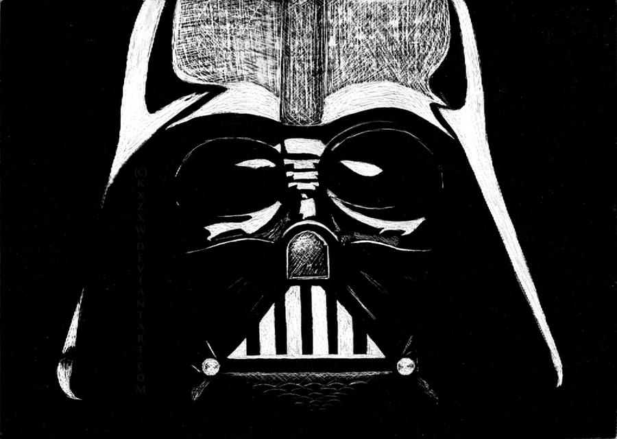 Darth vader by kxzxw on deviantart for Darth vader black and white