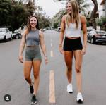 Tall fitness friend