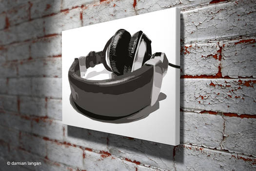 Headphones Pop Art
