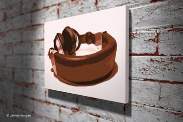 Headphones Pop Art by iamDamianUK