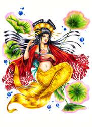 Mermay : Gold Geisha Mermaid