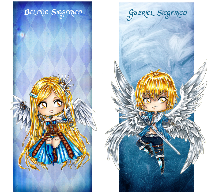 .Oc. Chibi ~Angels by Linelana