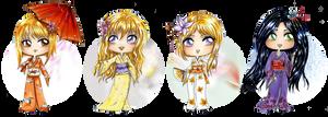 :Com: Chibi Katana Of Gion 2 by Linelana