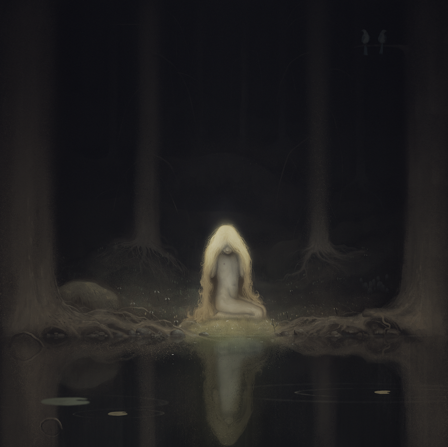 Princess Tuvstarr Gazing Down into the Dark Waters by Goretoon