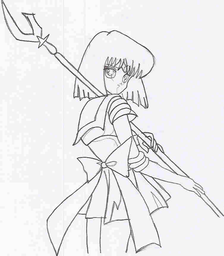 sailor moon coloring pages saturn - photo#9