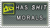 STAMP: Shit morals by MissLaria