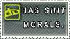 STAMP: Shit morals by MissLaria