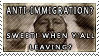 Anti Immigration stamp by MissLaria