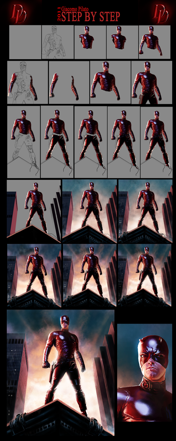 DAREDEVIL-step by step by jackegiacomo