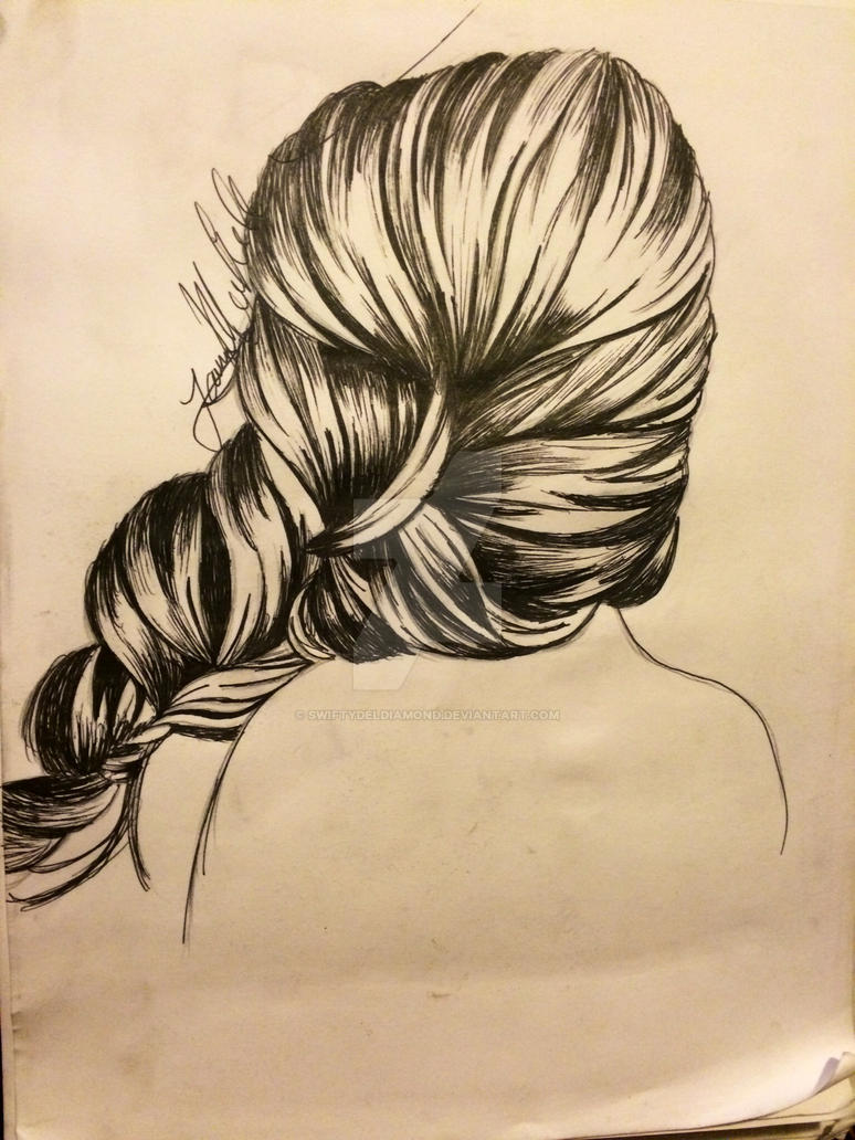 pen and ink hair braid by swiftydeldiamond on deviantart