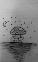 my little dark mushroom by Eve-The-Emoji-Domo